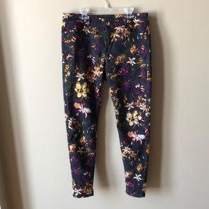Zara Basic 👖 Floral Skinny Jeans